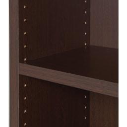 頑丈棚板がっちり書棚(頑丈本棚) ミドルタイプ 幅80cm 棚板は本の高さに応じて3cmピッチで調節できます。