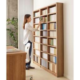 組立不要 天然木調棚板頑丈本棚 奥行19cm 扉がないので検索性が高く、本を選ぶのが楽しくなります。ご自宅にあなただけのホームライブラリーを。