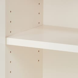 【完成品】LED付きギャラリー収納本棚 幅90奥行29.5cm 3枚扉タイプ 可動棚板は3cm間隔で高さ調節可能です。