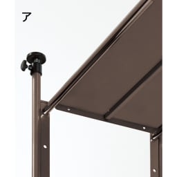 頑丈フレキシブル伸縮ラック 突っ張り式・幅103~160cm 棚板裏に補強バーを施した頑丈構造。