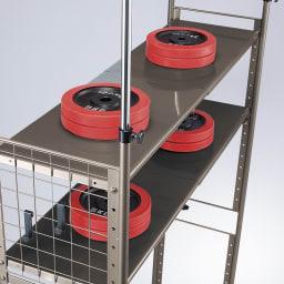 頑丈フレキシブル伸縮ラック 突っ張り式ハイ幅103~160cm 試験では1.5倍(約150kg)の総荷重もクリア。