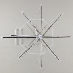 【頑丈かつコンパクト】物干しとしても使える伸縮式折りたたみハンガー 大・幅108~167cm ハンガーバーは360度回転するので、角度調節が自在にできます。