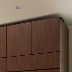 システム壁面ワードローブ 上置き・幅80高さ46cm (ウ)ブラウン