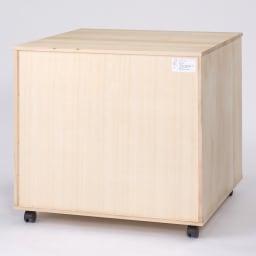 【衣類に優しい押し入れ収納】総桐スライドレール押入3段 スリム75 背面も桐材を使用してキレイな仕上げです。