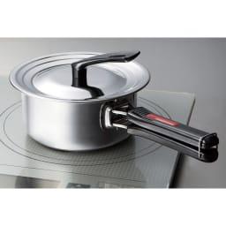 IH対応国産ステンレス鍋5点セット 全部の鍋に合う兼用蓋。