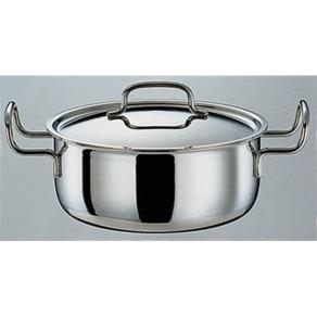 IH対応 服部先生のステンレス7層構造鍋「ジオ」 両手鍋径22cm 写真