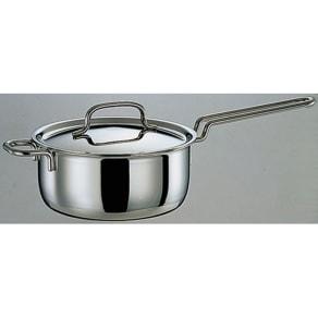 IH対応 服部先生のステンレス7層構造鍋「ジオ」 片手鍋径18cm 写真