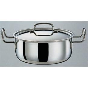 IH対応 服部先生のステンレス7層構造鍋「ジオ」 両手鍋径25cm 写真