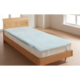 【三井毛織】エジプト超長綿やわらか綿毛布 敷き毛布 (エ)ブルーグリーン 敷き毛布