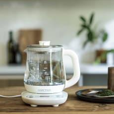 調理もできる温度調整もできるガラスの電気ケトル(クックケトル)