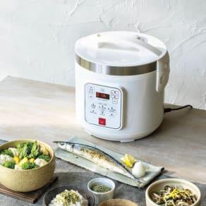 【特典付き】ご飯の糖質最大約37%カット! 低糖質炊飯器 WEB限定 先着200名様 レビューを書いて特典付き 写真