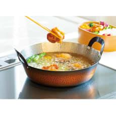 IHで使える銅の天ぷら鍋21cm