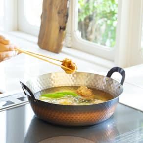 IHで使える銅の天ぷら鍋24cm 写真