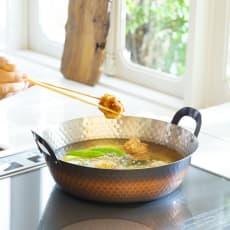 IHで使える銅の天ぷら鍋24cm