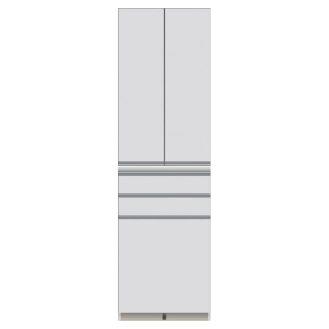 家電が使いやすいハイカウンター奥行45cm 食器棚高さ203cm幅60cm/パモウナDQ-S600K お届けの商品はこちらになります。