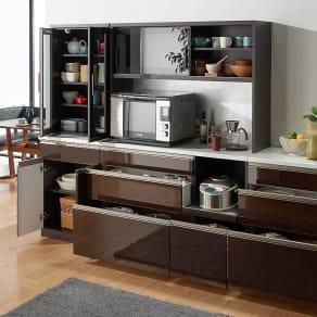 高機能 モダンシックキッチン キッチンボード 幅120奥行45高さ178cm 写真