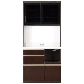 高機能 モダンシックキッチン キッチンボード 幅90奥行51高さ193cm 写真
