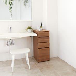 天然木キッチンすき間収納庫 幅35cm 写真