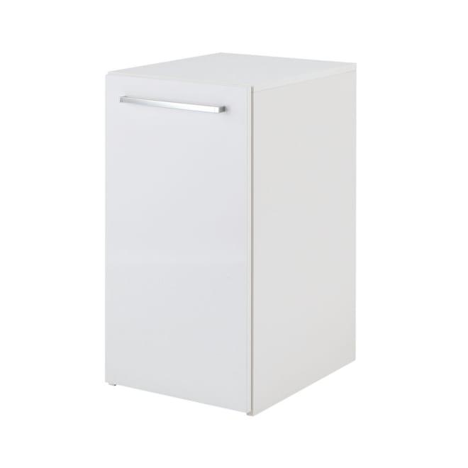 左右どちらからも取り出せる すき間スライド食器棚 ロータイプ 幅35奥行46.5cm ボックスから引き出して使うスライド式の食器棚。