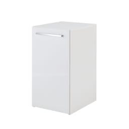 左右どちらからも取り出せる すき間スライド食器棚 ロータイプ 幅45奥行57cm ボックスから引き出して使うスライド式の食器棚。