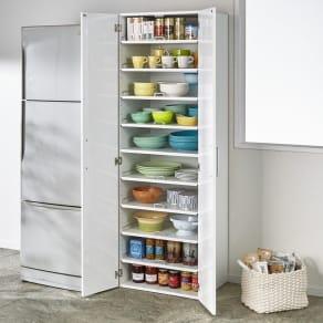 食器が探しやすく取り出しやすい食器棚 幅60cm 写真