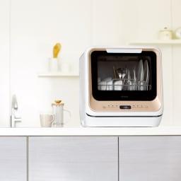 【ディノス先行販売】水栓工事のいらない食器洗浄乾燥機 販路限定カラー 工事不要ですぐ使える、タンク給水式の食洗器。これから食器洗いの時間はあなたの自由時間に変わります。