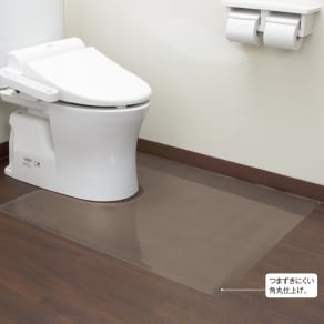 アキレス トイレ用 足元透明マット(抗菌剤配合) 幅80×奥行95cm(ロング耳長判) 写真