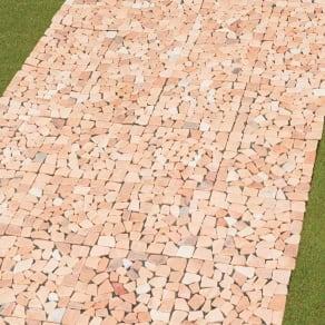 雑草が生えない天然石マット 同色12枚組 写真