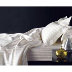 オールシルクシリーズ サテン織りシーツ&カバー ベッドシーツ