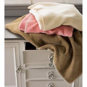 セミダブル(超長綿×ウール プレミアム毛布 掛け毛布) 写真