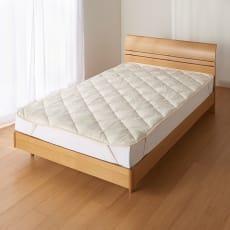 あったか洗える清潔寝具 ふんわり敷きパッド ダブルロング