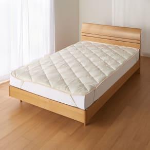 あったか洗える清潔寝具 ふんわり敷きパッド クイーンロング 写真