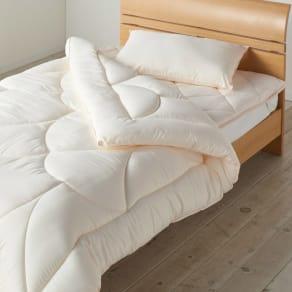 あったか洗える清潔寝具 お得な掛け布団+敷パッド+枕(ベッドセット) シングル3点セット 写真