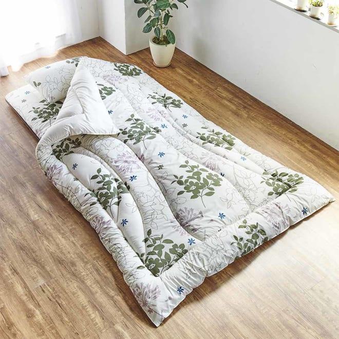 新 軽量&しっかり敷布団シリーズ お得な掛け+敷き+枕セット 軽さとサポート性を両立した敷布団に、枕と掛け布団を加えたお得なセット!