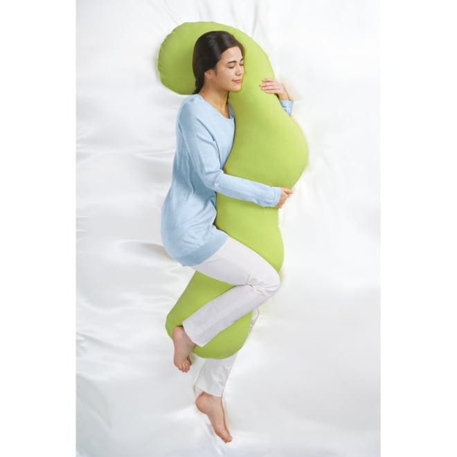岡山県立大学とコラボ! 睡眠モードに切り替える 魔法の抱き枕(R)本体 (ウ)グリーン ※ワイドタイプ