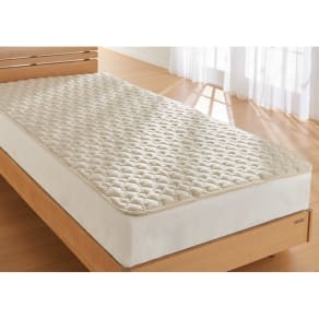 西川の洗える制菌わたベッドパッド セミダブル 写真