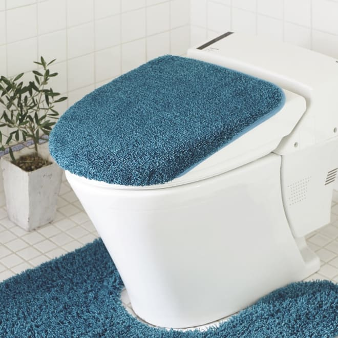 PLYS(プリス)乾度良好トイレタリー フタカバー(洗浄暖房器用) (ウ)ブルー系