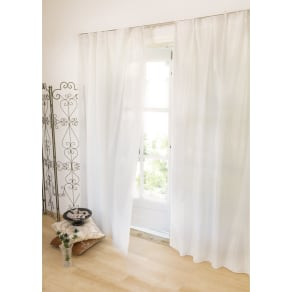 幅100×丈208cm 見えにくく明るい機能ボイルカーテン(2枚組) 写真