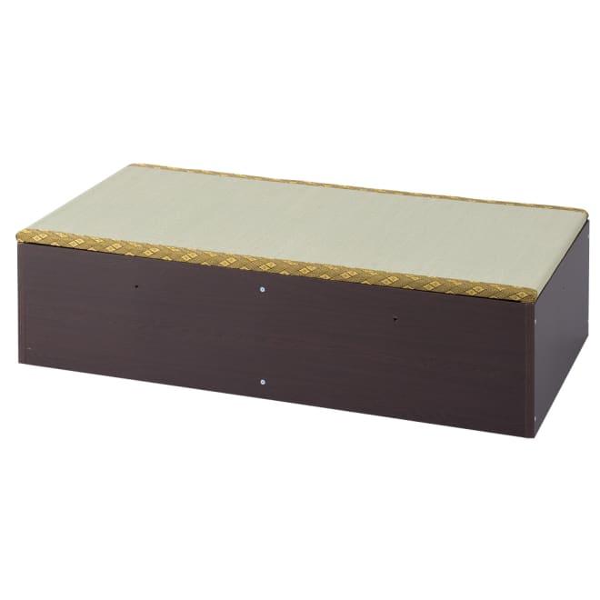 ユニット畳シリーズ 1畳 高さ31cm 側板にある連結穴はキャップ、ネジ頭はシールで隠すことができます。