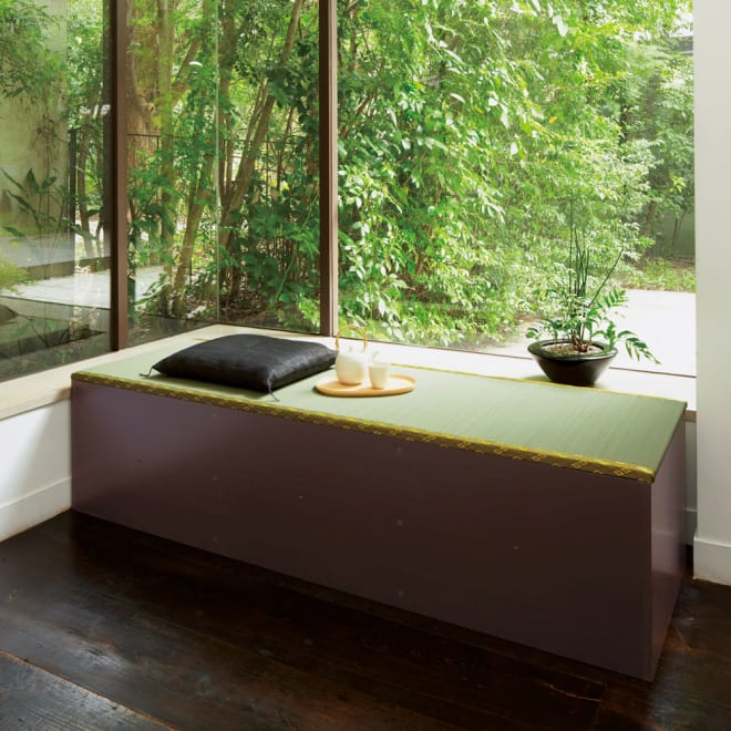ユニット畳シリーズ 1.5畳 高さ45cm ベンチとしても使用できる高さ45cmタイプ。1.5畳ならちょっと横になれます。