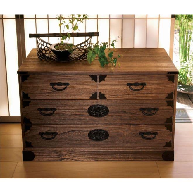 総桐民芸箪笥 3段・幅100高さ63.5cm