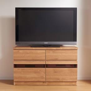 天然木調テレビ台シリーズ ハイタイプテレビ台 幅100.5高さ60cm 写真