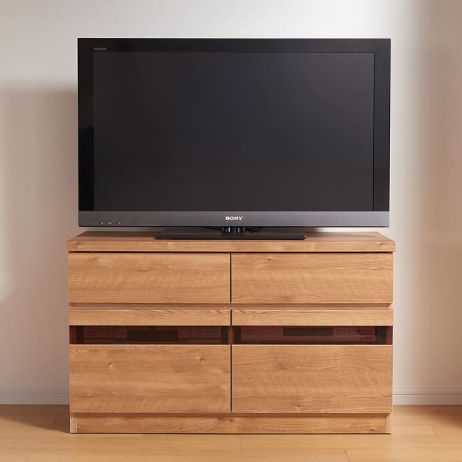 天然木調テレビ台シリーズ ハイタイプテレビ台 幅100.5高さ60cm コーディネート例