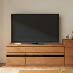 天然木調テレビ台シリーズ ハイタイプテレビ台 幅159.5高さ60cm 写真