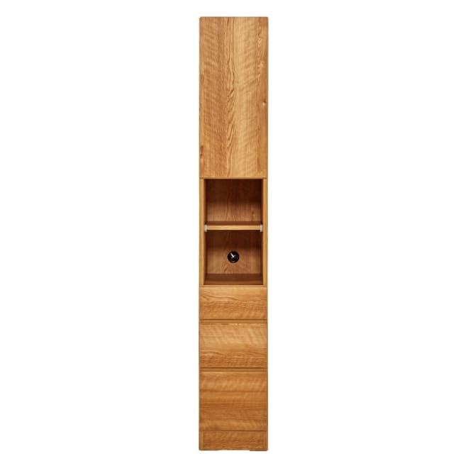 天然木調 リビング壁面収納シリーズ 収納庫 扉・引き出しタイプ 幅29cm 幅29cmは上部が1枚扉の仕様です。