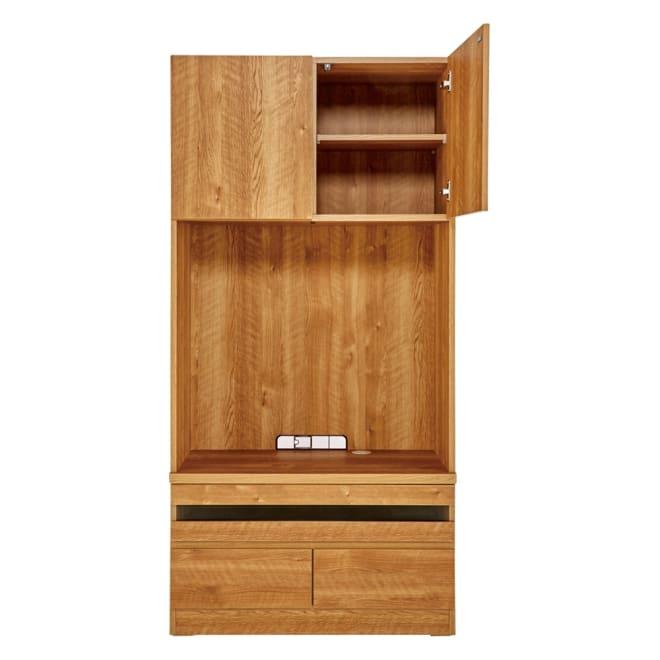 天然木調 リビング壁面収納シリーズ テレビ台 ミドルタイプ 幅89.5cm オープン部内寸:幅85cm 高さ78.5cm
