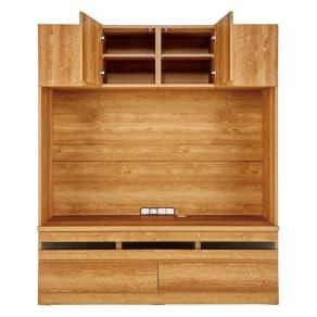 天然木調 リビング壁面収納シリーズ テレビ台 ミドルタイプ 幅155cm 写真