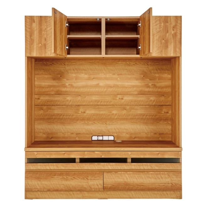 天然木調 リビング壁面収納シリーズ テレビ台 ミドルタイプ 幅155cm オープン部内寸:幅150.5cm 高さ89.6cm