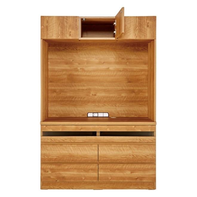 天然木調 リビング壁面収納シリーズ テレビ台 ハイタイプ 幅121cm オープン部内寸:幅116.5cm 高さ85.6cm 天板までの高さ70.5cm