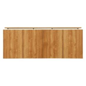 天然木調リビング壁面収納シリーズ オーダー対応突っ張り式上置き(1cm単位) 幅155cm・高さ26~90cm 写真